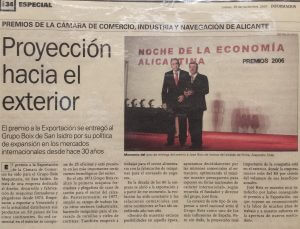Export Award of the Chamber of Commerce.